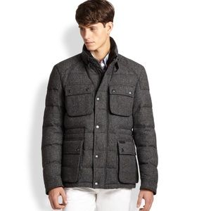 💯 authentic Burberry Brit down wool field jacket